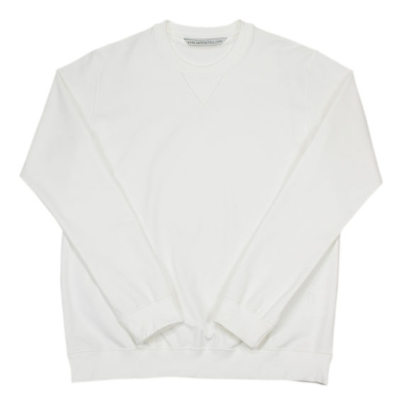 JOHN LAWRENCE SULLIVAN_CREW NECK SWEAT_WHITE