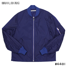 JOHN LAWRENCE SULLIVAN_NYLON MA-1 JACKET_BLUE