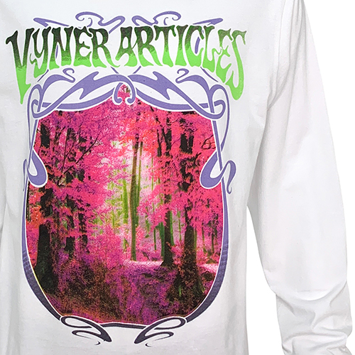 VYNER ARTICLES_L/S FOREST PRINT TEE_WHITE