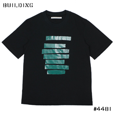 JOHN LAWRENCE SULLIVAN_GRAPHIC TEE_NAVY×GREEN