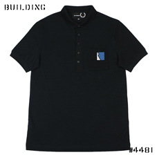 RAF SIMONS×FRED PERRY_MESH POCKET POLO_NAVY
