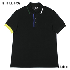 RAF SIMONS×FRED PERRY_LINE POLO_BLACK