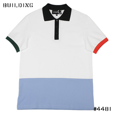 RAF SIMONS×FRED PERRY_PANEL POLO_WHITE×SAXE×RED×GREEN