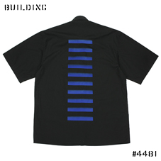 JOHN LAWRENCE SULLIVAN_DONALD JUDD SHIRT_BLACK×BLUE