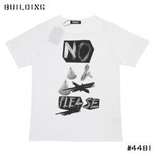 "PETER DE POTTER BY PROJECT_""NO"" TEE SHIRT_WHITE"