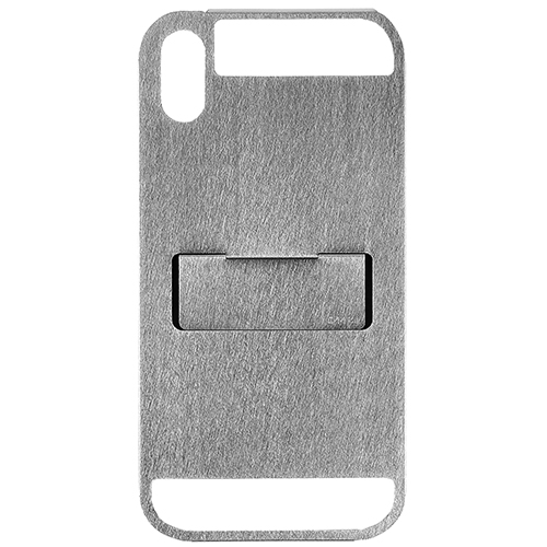 CLAUSTRUM_iPhone X/Xs CASE ( STRAIGHT VIBRATION FINISH )_SILVER