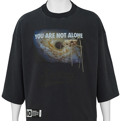 TIGRAN AVETISYAN_CROPPED TEE [ YOU ARE NOT ALONE ]_BLACK