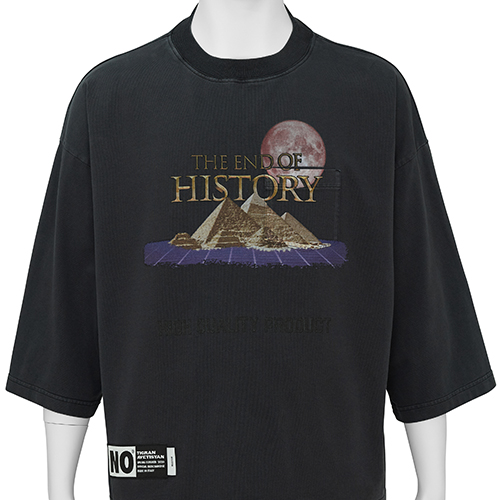 TIGRAN AVETISYAN_CROPPED TEE [ THE END OF HISTORY ]_BLACK