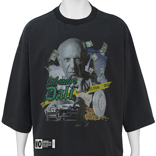 TIGRAN AVETISYAN_CROPPED TEE [ PABLO PICASSO ]_BLACK