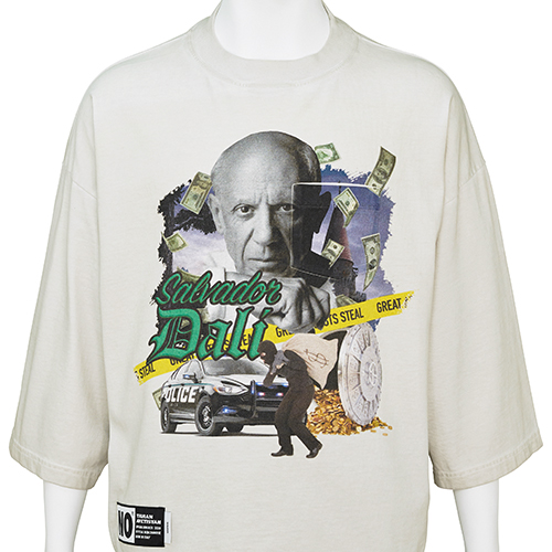TIGRAN AVETISYAN_CROPPED TEE [ PABLO PICASSO ]_BEIGE