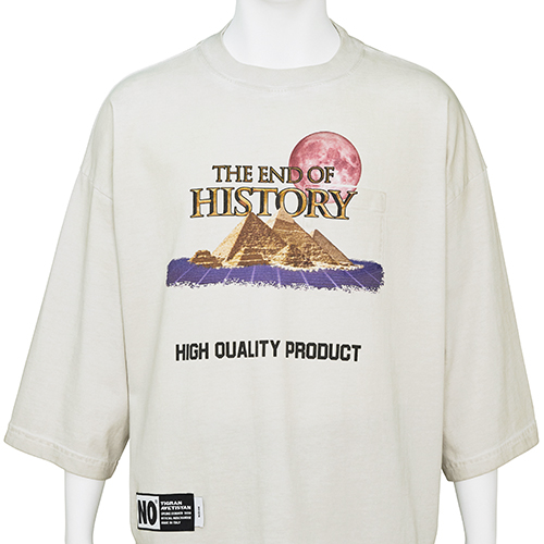TIGRAN AVETISYAN_CROPPED TEE [ THE END OF HISTORY ]_BEIGE
