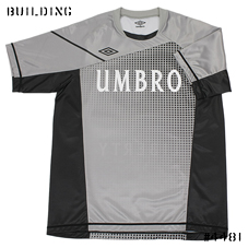 umbro_GAME TEE SHIRT_GRAY×BLACK