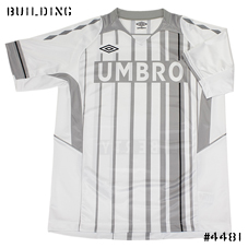 umbro_GAME TEE SHIRT_WHITE×GRAY