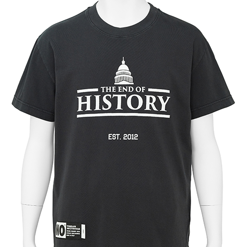 TIGRAN AVETISYAN_BASIC TEE [ THE END OF HISTORY with CAPITOL ]_BLACK