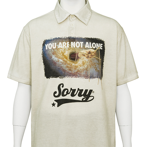TIGRAN AVETISYAN_POLO SHIRT [ YOU ARE NOT ALONE ]_BEIGE