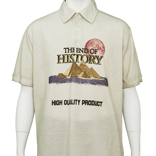 TIGRAN AVETISYAN_POLO SHIRT [ THE END OF HISTORY ]_BEIGE