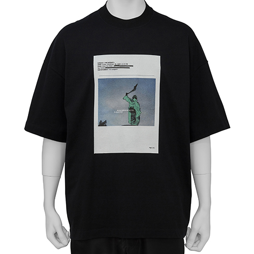 ALMOSTBLACK×PETER DE POTTER_TEE SHIRT_BLACK