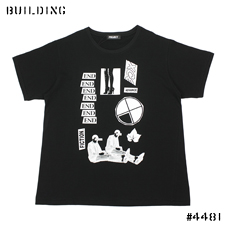"PETER DE POTTER BY PROJECT_""END"" BIG TEE SHIRT_BLACK"