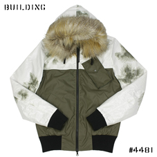 CHRISTOPHER RAEBURN_REMADE BOMBER JACKET_OLIVE×WHITE