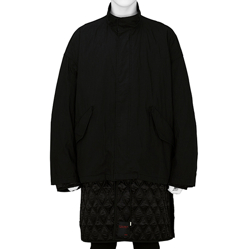 ALMOSTBLACK×PETER DE POTTER_LAYER COAT_BLACK
