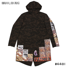 RAF SIMONS / STERLING RUBY_MOD'S COAT_BROWN CAMOUFLAGE