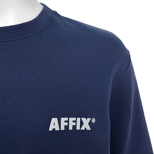 AFFIX_CREW NECK SWEAT_NAVY