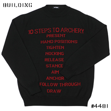 RAF SIMONS_KNIT WITH TEXT_BLACK×RED