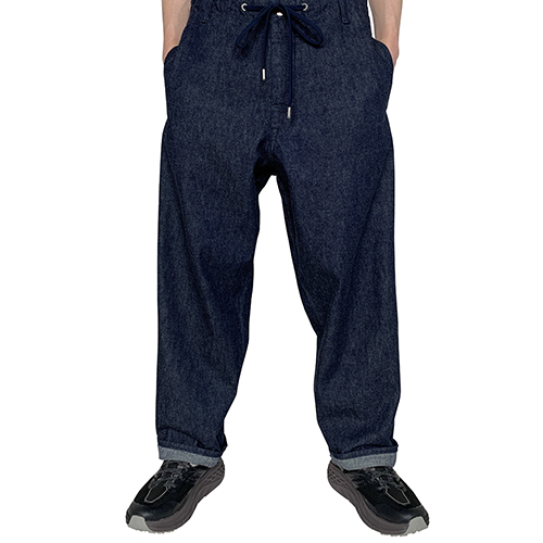 FUMITO GANRYU_WARM UP 5 POCKET DENIM PANTS_INDIGO