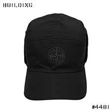 STONE ISLAND_FLEECE CAP_BLACK