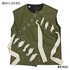 CRAIG GREEN_LEATHER VEST_OLIVE