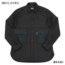 Y-3_WOOL SHIRT_CHARCOAL GRAY