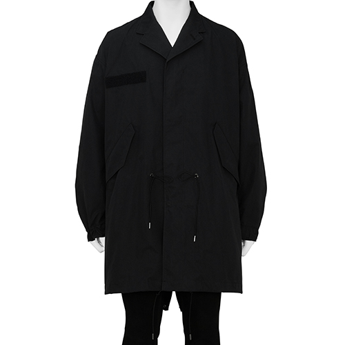 FUMITO GANRYU_LAPELLED MODS COAT_BLACK