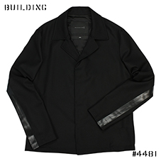 MACKINTOSH 0001_SHORT LAB COAT_BLACK
