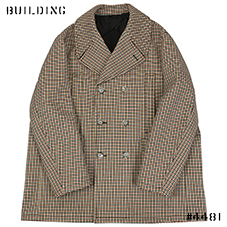 RAF SIMONS_OVERSIZED COAT_BROWN CHECK