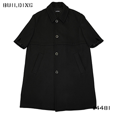 RAF SIMONS_SHORTSLEEVED COAT_DARK NAVY