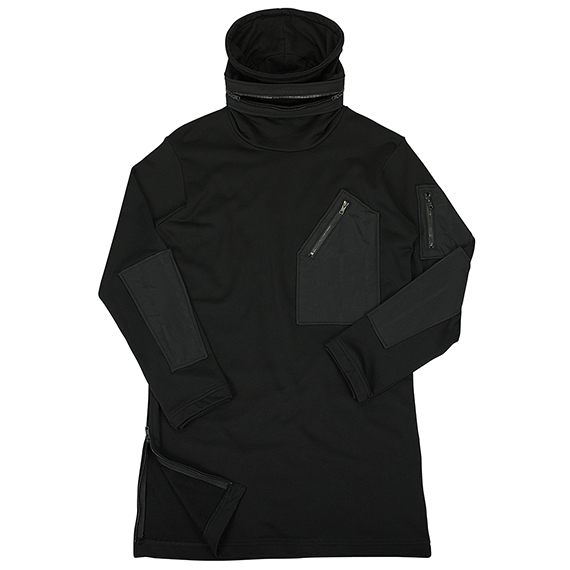 Y-3_ZIP LONG SWEAT_BLACK