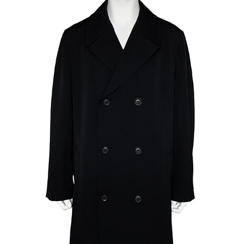 YOHJI YAMAMOTO POUR HOMME_TRENCH CAOT_BLACK