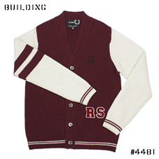 RAF SIMONS×FRED PERRY_CARDIGAN_BORDEAUX×WHITE