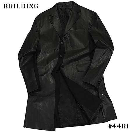 TIGRAN AVETISYAN_HAND PAINTED LONG JACKET_BLACK