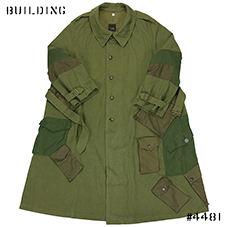 MAHARISHI_UPCYCLED CAVALRY COAT_OLIVE MIX