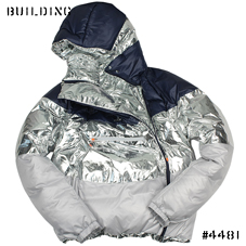adidas by kolor_DOWN JACKET_NAVY×SILVER×GRAY