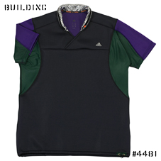 adidas by kolor_S/S KNIT TOP_CHARCOAL GRAY×PURPLE×GREEN
