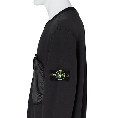 STONE ISLAND_CREW NECK SWEAT_BLACK