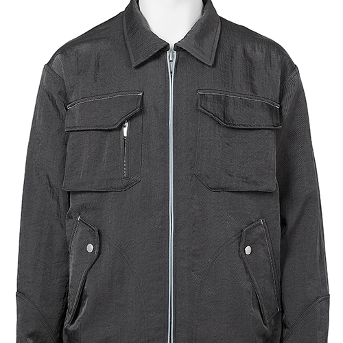 AFFIX_NYLON BOMBER JACKET_GREY