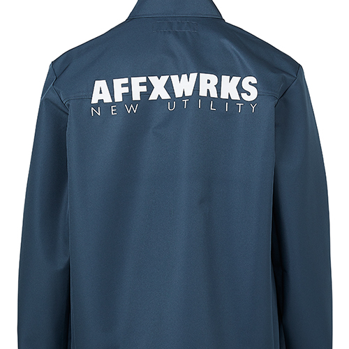 AFFIX_3L COACH JACKET_BLUE GREY