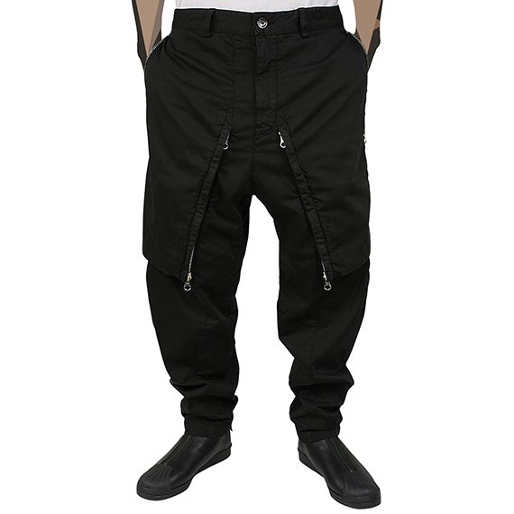 STONE ISLAND SHADOW PROJECT_ZIP PANTS_BLACK