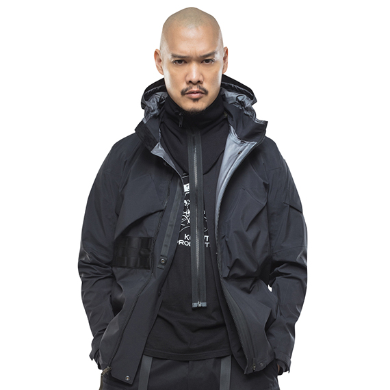 ACRONYM_NG9-PS MODULAR ZIPPERED POWERSTRETCH COLLAR_BLACK
