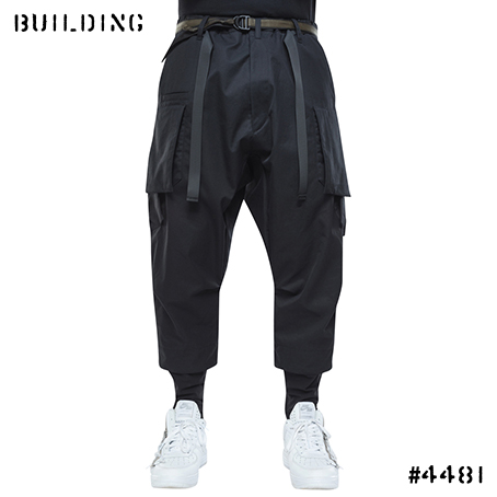 ACRONYM_P23A-S HD COTTON CARGO DRAWCORD TROUSER_BLACK