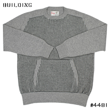 KUBRICK×CORGI_HELD STITCH KNIT_GRAY