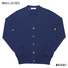JOHNSTONS_CASHMERE CARDIGAN_BLUE